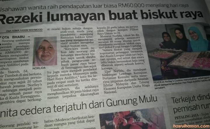 Rezeki Lumayan, RM60,000 Buat Bisnes Biskut Raya