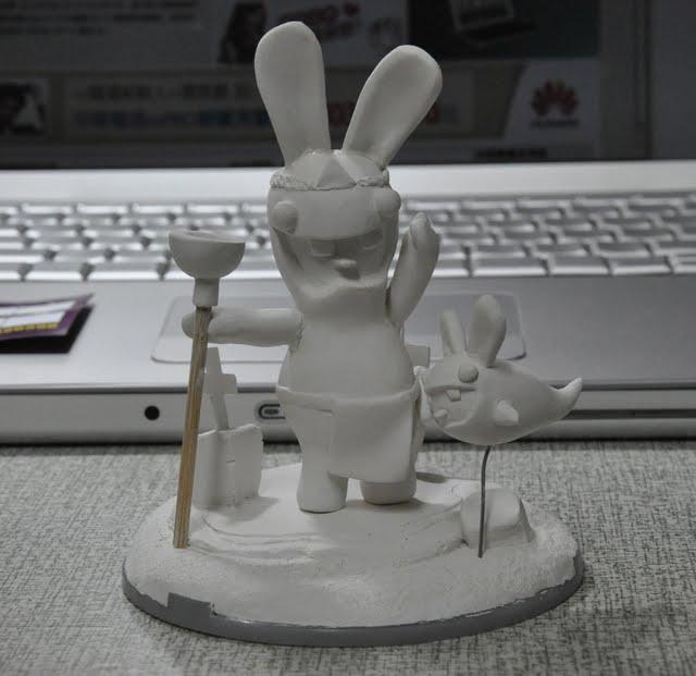 虛線的教學: 公仔製作範例~雷曼兔教學part1