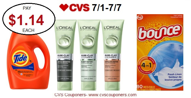 http://www.cvscouponers.com/2018/06/hot-pay-114-for-bounce-tide-and-loreal.html