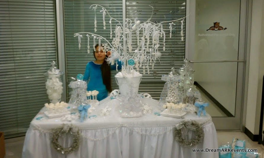 Winter theme sweet table decoration