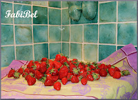 fraises au pesto de menthe