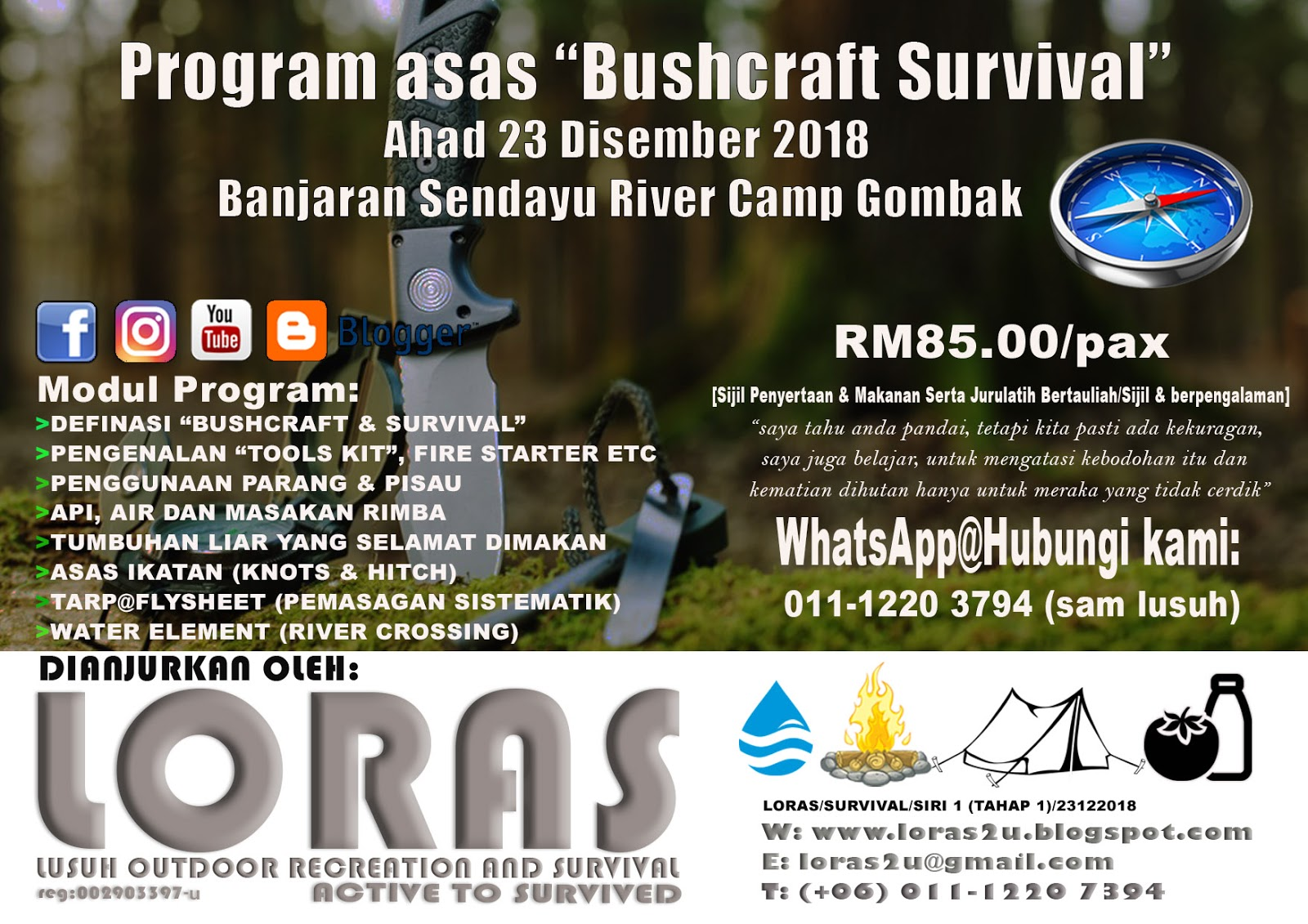 Basic survival course by Lusuh Adventure