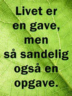 citater om livet: danske ordsprog