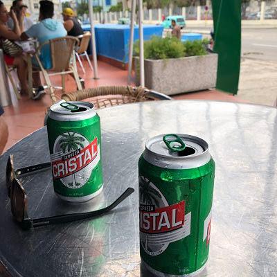 cristal. cerveza. la habana