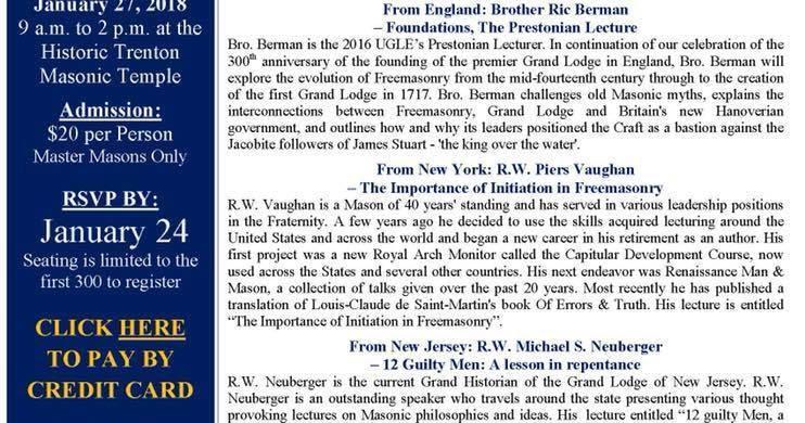 Freemasons For Dummies: Upcoming Masonic Education Seminars