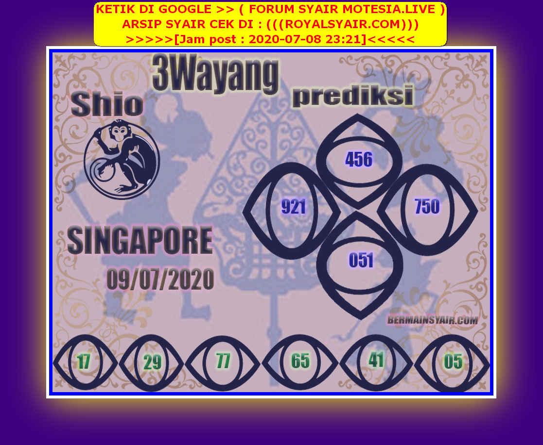 Kode syair Singapore Kamis 9 Juli 2020 210
