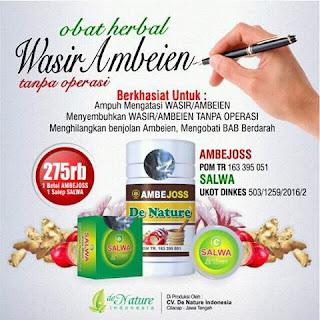 obat wasir (ambeien) dari De Nature Indonesia