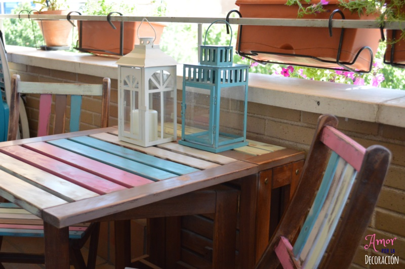 TUTORIAL) EL TUNEO DE MI TERRAZA CON CHALK PAINT EN SPRAY  AMOR POR