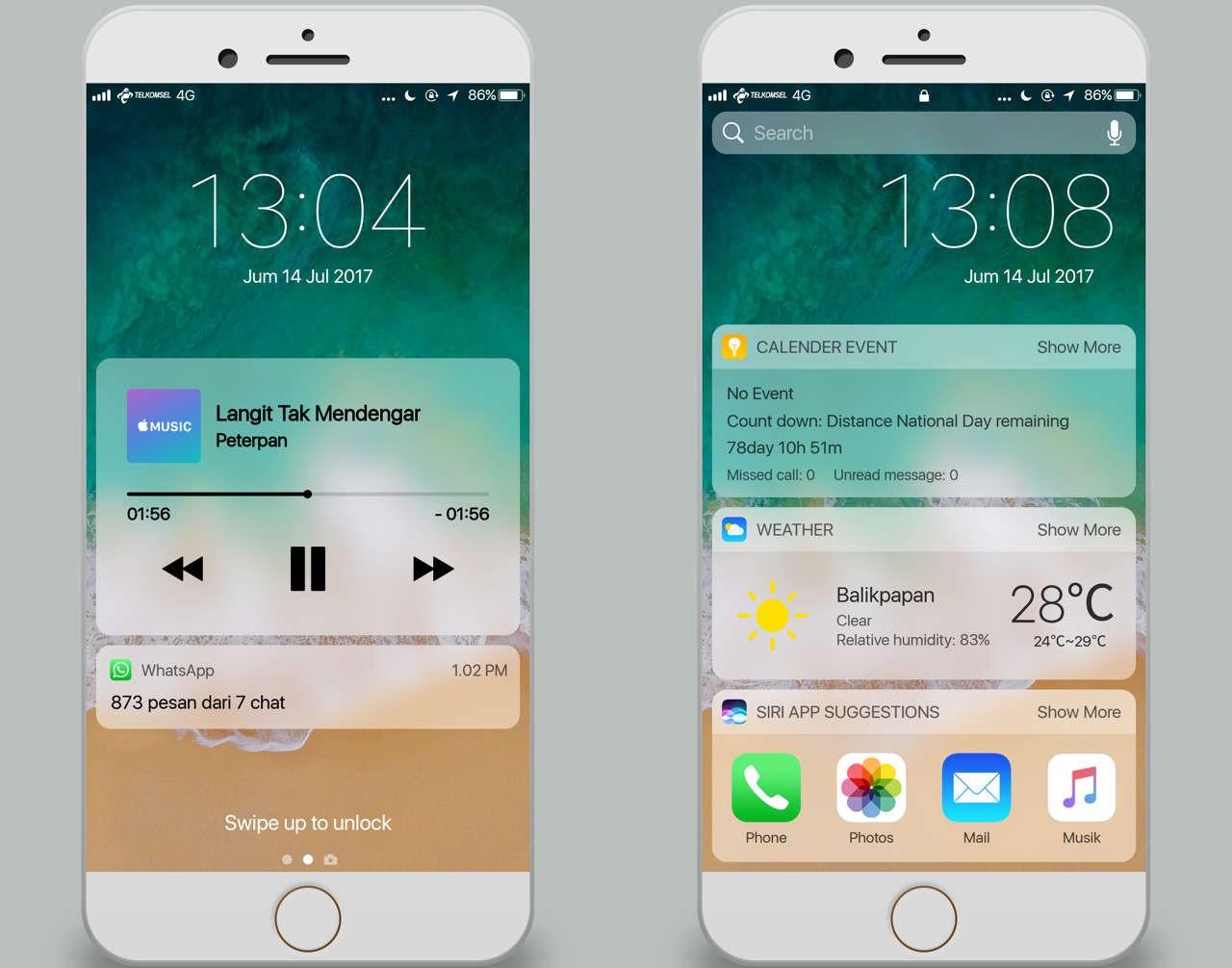 Download Tema Iphone Ios 11 Pro Mtz Xiaomi Terbaru