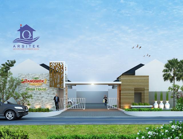 Desain Eksterior Taman Anggrek Residence di Kartasura