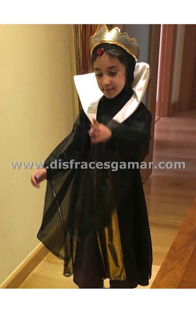 reina o princesa malvada para niña