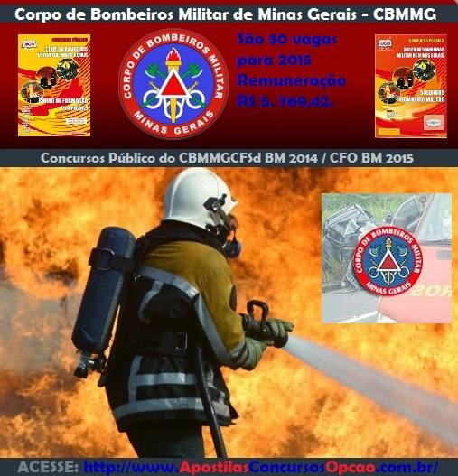 Edital Concurso CBMMG CFO Bombeiros MG