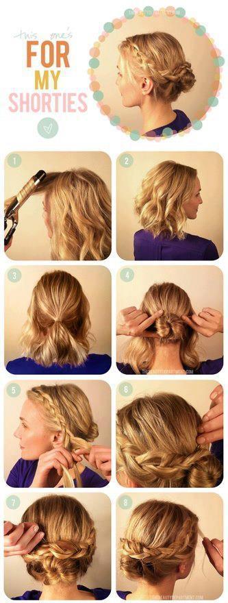 Tutorial Peinados Pelo Corto - Más de 1000 ideas sobre Tutoriales Para Pelo Corto en Pinterest