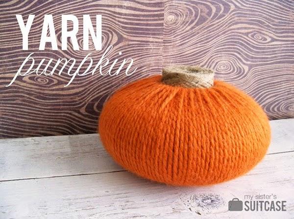Easy Yarn Pumpkin Tutorial for Halloween