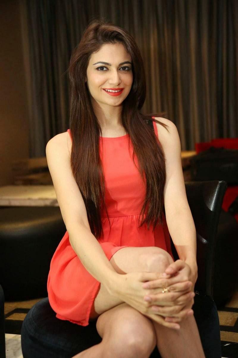 High Quality Simran Kaur Mundi Pics, Simran Kaur Mundi Long Legs hot Pics in Red short Dress & Boots