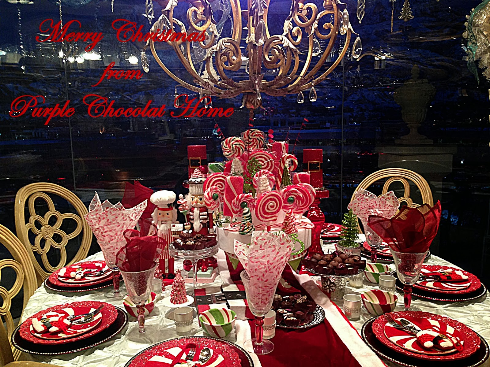 candy land christmas morning table - Candy Cane Christmas Table Decorations