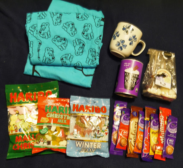 Hot Chocolate and Haribo Secret Santa Package