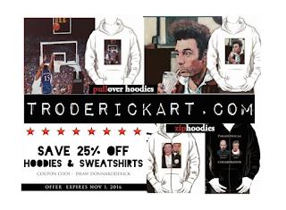 25% off hoodies and sweatshirts at troderickart.com