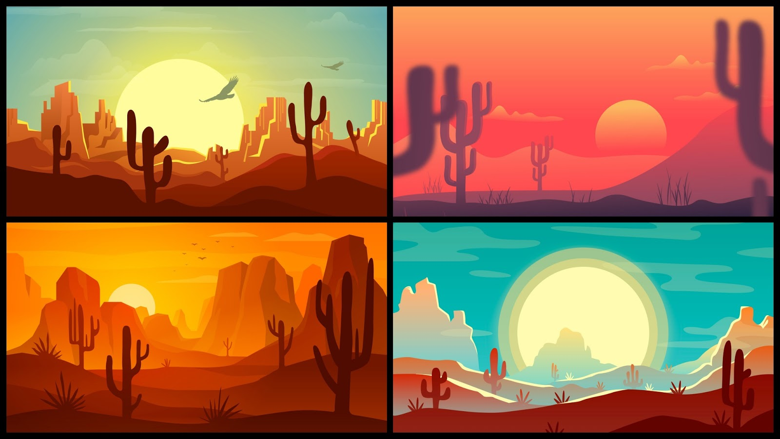 4 minimalist desert wallpapers for desktop 1440p