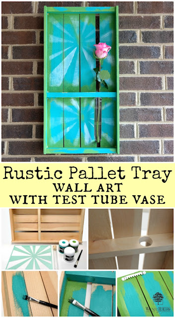 Rustic Pallet Tray Wall Art Photo Tutorial by Dana Tatar for Walnut Hollow