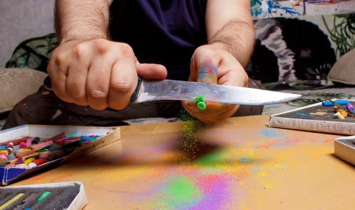 Пастельный скрейпинг (Pastel scraping)