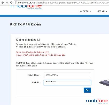 Hướng dẫn cách đăng ký Mobifone Portal