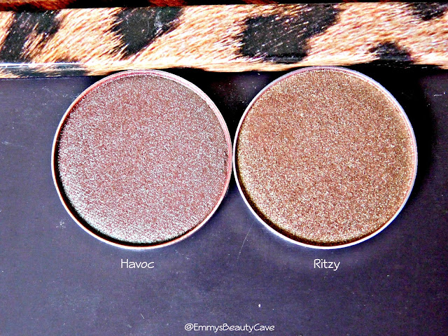 Makeup Geek Duo Chrome Eye Shadows Havoc and Ritzy