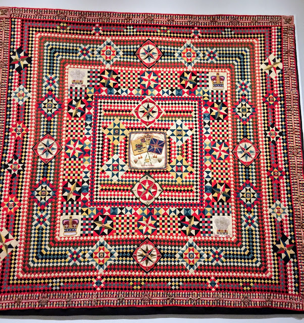 One of the soldier quilts from the exhibit War and Pieced at the American Folk Art Museum, NYC.
