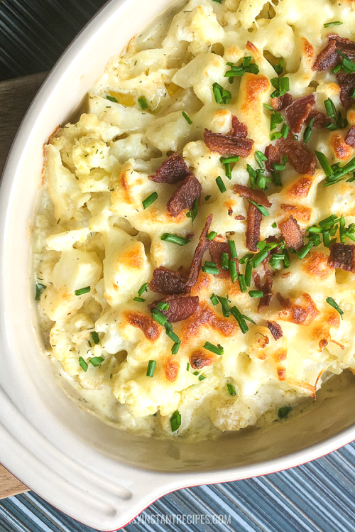 instant pot cauliflower au gratin