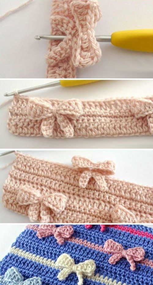 Crochet Bow Stitch - Tutorial