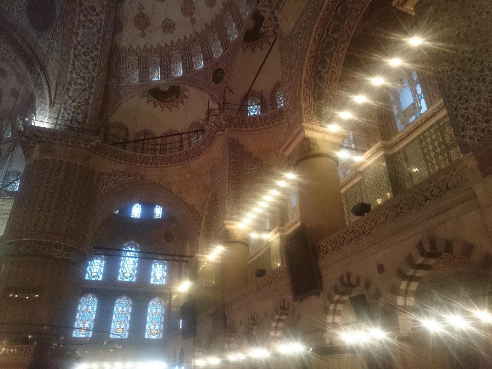 sultan ahmet camisinin içi