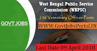 West Bengal Public Service Commission Recruitment 2018  Government Job for Veterinary Officer