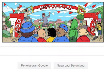 Google Doodle show Indonesian Independence Day theme