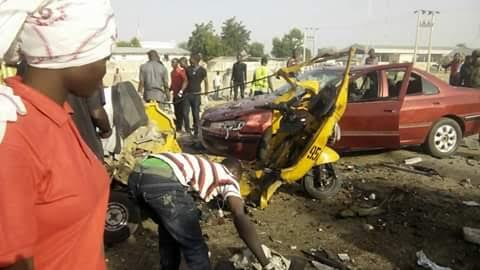 Graphic photos from twin bomb attacks in Maiduguri this morning