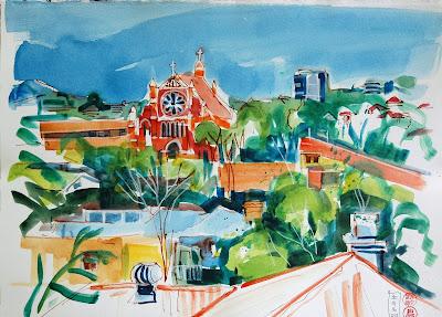 Brisbane art urban sketch