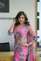 Angela Krislinzki Rogue Movie Fame Telugu Actress in Saree Backless Choli 106.JPG