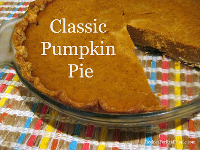 Everyone should have this classic pumpkin pie recipe and prepare it often.