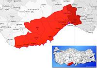 Tarsus ilçesinin nerede olduğunu gösteren harita