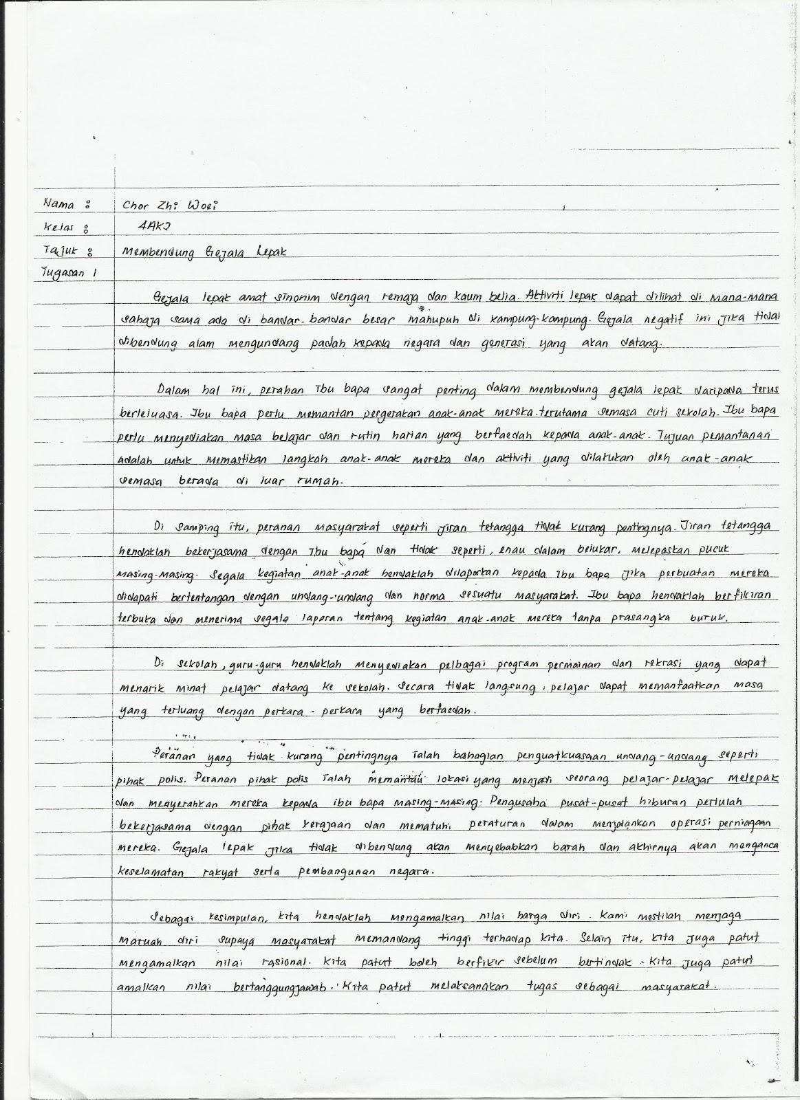 Exclusive Through My Mind Contoh Tugasan Harian Pend