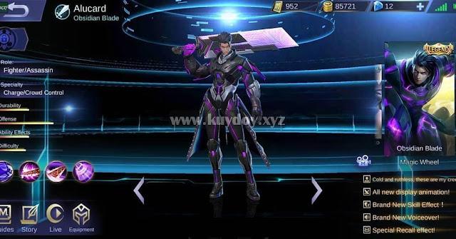 Download Script Skin Legend Alucard Obsidian Blade Terbaru