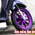 Sơn bánh mâm xe máy màu tím nhám cực đẹp