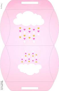 Caja tipo almoada de Lluvia de Bendiciones para Nena para imprimir gratis.
