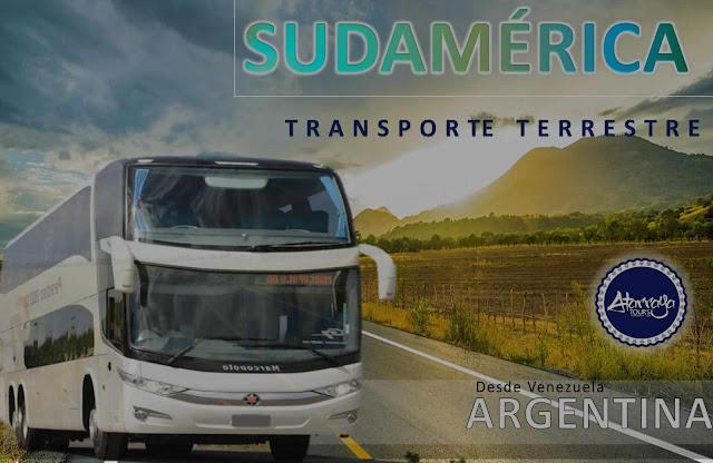 imagen Transporte terrestre desde venezuela a argentina