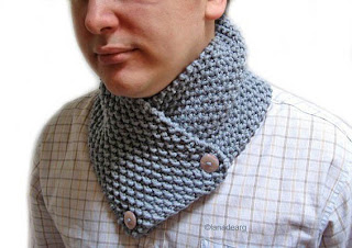 Hand knitted scarf for men