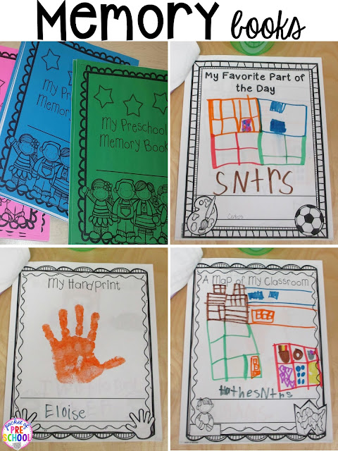 Memory books and more end of the year teacher and students HACKS to make the end of the year and back to school less easy! Plus FREE end of the year lists. Perfect for preschool, pre-k, and kindergarten.