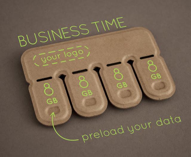 Interesante diseño sustentable para memorias USB