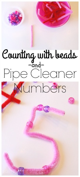 preschool counting with pipe cleaner numbers