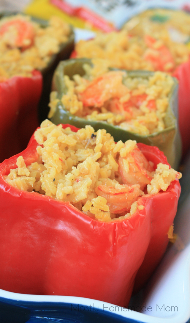 seafood paella stuffed peppers recipe