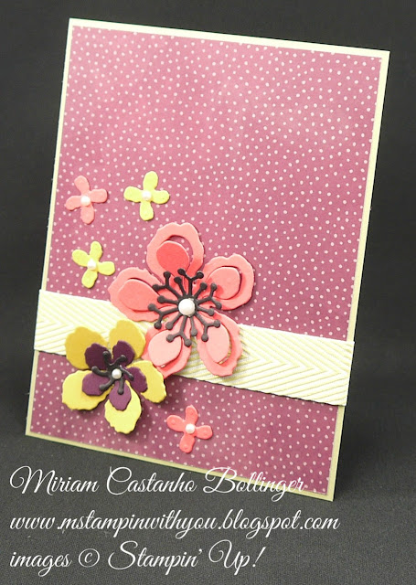 Miriam Castanho-Bollinger, #mstampinwithyou, stampin up, demonstrator, dsc, all occasions card, botanical builder framelits, farmer's market dsp, big shot, su