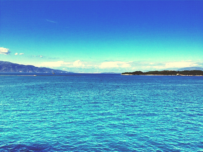 Corfu sunny weather